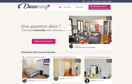 decovery, accueil, question déco